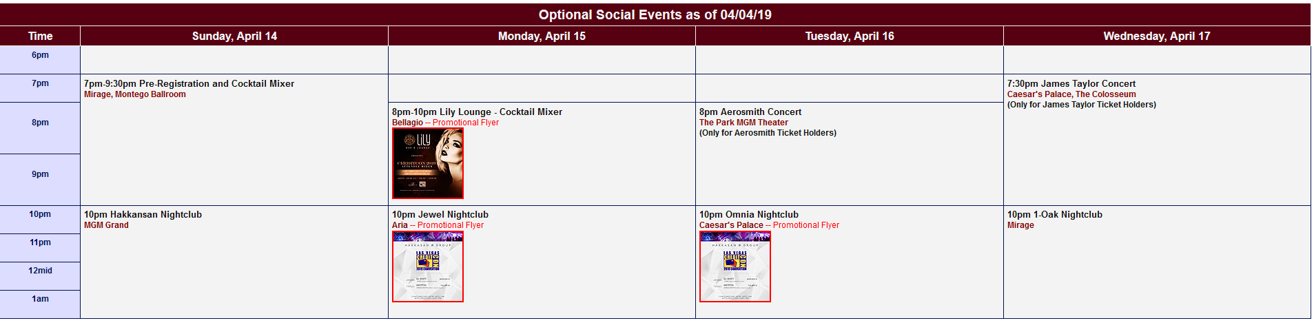 speaker schedule
